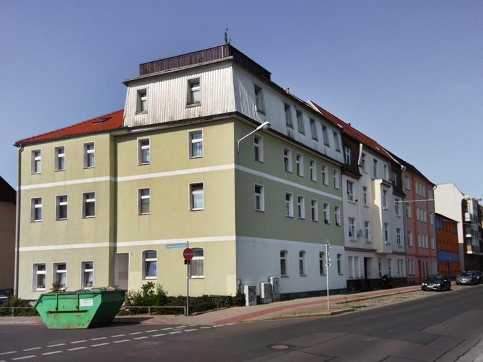 Sanierter Altbau in der Innenstadt von Brandenburg an der Havel