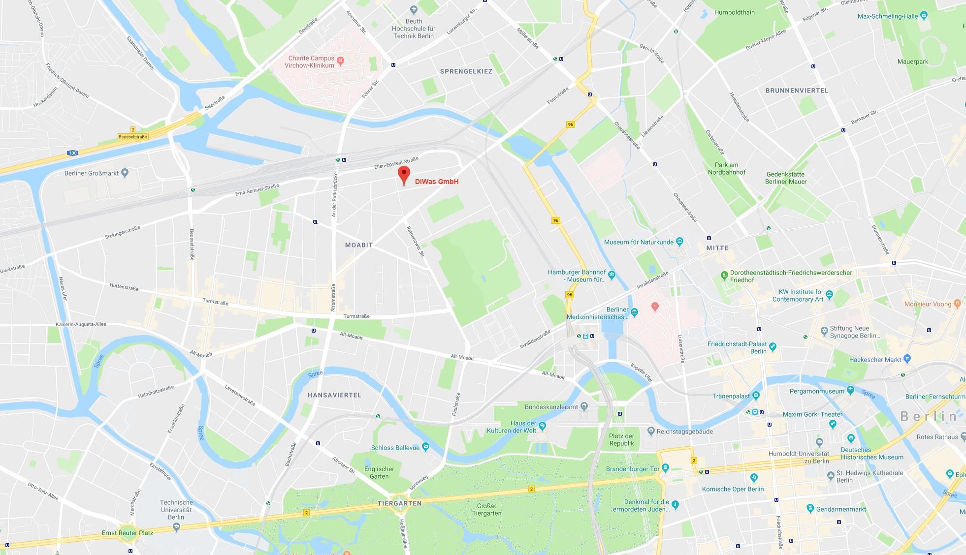 Standort DiWas Berlin Mitte Moabit